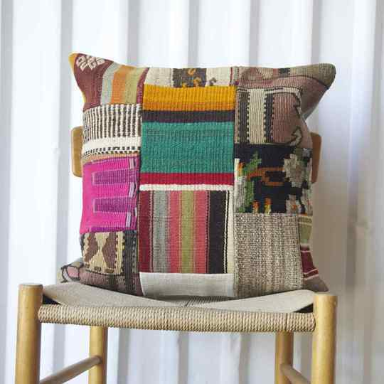Patchwork Antique Rug Fragment Cushions 50x50cm