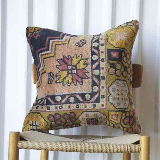 Antique Rug Fragment Cushions 50x50cm