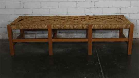 Beech and Paper Cord Bench